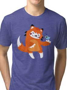 the fox and the bird Tri-blend T-Shirt