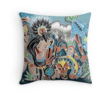 tribe dance Throw Pillow