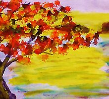 Fall leaves, watercolor by Anna  Lewis