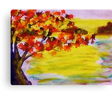 Fall leaves, watercolor Canvas Print