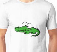 Funky Goofy Alligator Cartoon Unisex T-Shirt