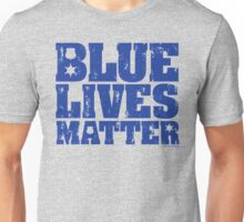 Blue Lives Matter - Distressed Unisex T-Shirt