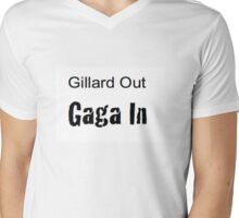 Gillard Out Gaga In Garage Style Mens V-Neck T-Shirt