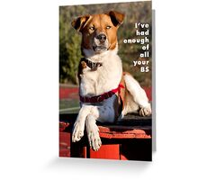 I've had enough of all your BS. Greeting Card