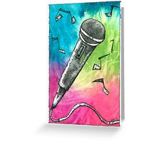 Microphone Notes Greeting Card