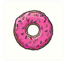 The Simpsons - Doughnut Art Print