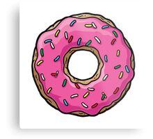 The Simpsons - Doughnut Metal Print