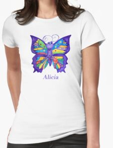 A Yoga Butterfly for Alicia Womens Fitted T-Shirt