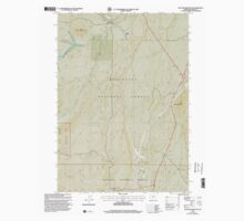 USGS Topo Map Oregon Muttonchop Butte 280900 1999 24000 Baby Tee