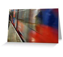 moving tube Greeting Card