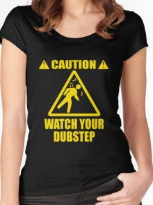 watch your Dubstep (Yellow) Women's Fitted Scoop T-Shirt