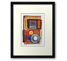 1 out of 6 Experimental Boards. (painting) Framed Print