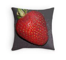 strawberry enhanced Throw Pillow
