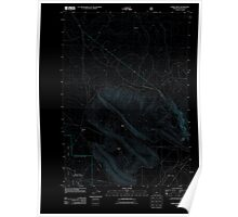 USGS Topo Map Oregon Horse Ridge 20110715 TM Inverted Poster