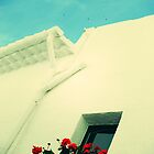 white washed house, sitges by josephiam