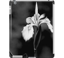 Wild Iris - Black & White Photo Painting iPad Case/Skin