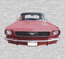 Red 66 Mustang One Piece - Short Sleeve