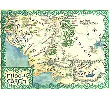 Hand painted custom Middle Earth design Photographic Print
