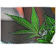 Cartoon Pot Leaf Poster