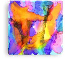 1 Art Abstract Watercolor Modern Prints by Robert R (Erod Art) Canvas Print