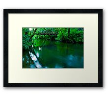 Over The Bridge And Through The Woods Framed Print