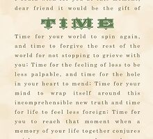 Sympathy Card - Time by greenstonetype
