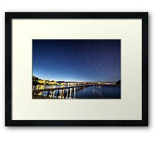 Under a Rotating Sky Framed Print