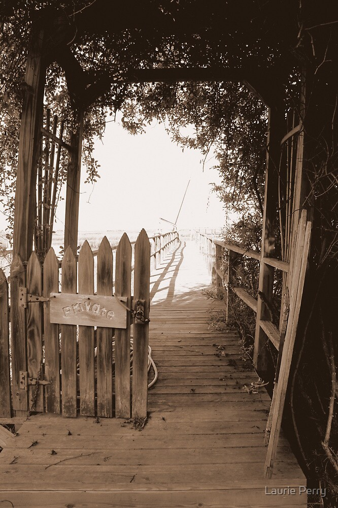 Private Pier by Laurie Perry