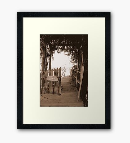 Private Pier Framed Print