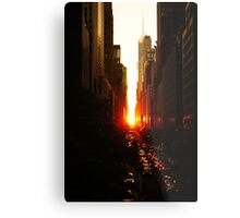 Manhattanhenge Sunset Midtown New York City Metal Print