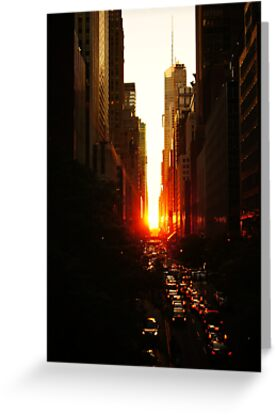 Manhattanhenge Sunset Midtown New York City by Vivienne Gucwa