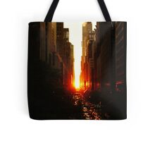 Manhattanhenge Sunset Midtown New York City Tote Bag