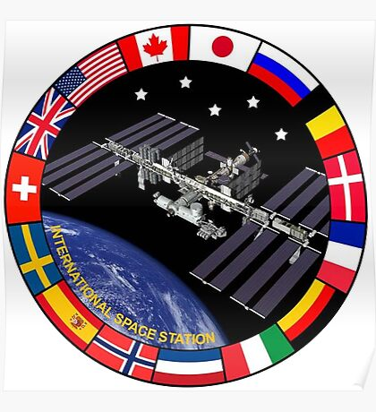 ISS Composite Logo Poster