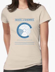 The Wheel of Sherries Womens Fitted T-Shirt