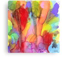 2 Art Abstract Watercolor Modern Prints by Robert R (Erod Art) Canvas Print