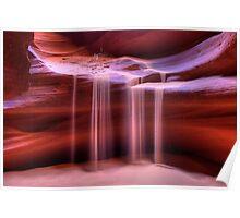 Sandfall (Antelope Slot Canyon, Page, Arizona) Poster