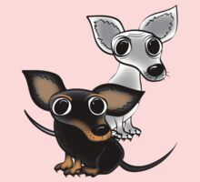 Two wee dogs by Diana-Lee Saville