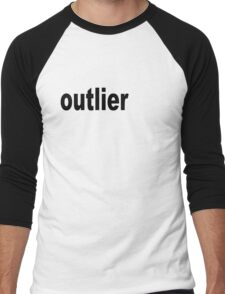 Outlier moved off the Center for Statisticians Men's Baseball ¾ T-Shirt