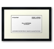 Patrick Bateman, Murders and Executions Framed Print