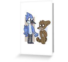 mordecai and rigby  Greeting Card