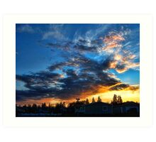 Storm's Trail (Northwestern Sunset) Art Print