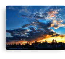 Storm's Trail (Northwestern Sunset) Canvas Print