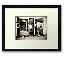 Morgue Equipment Framed Print