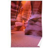Red Rock Slot (Antelope Canyon, Page, Arizona) Poster