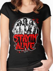 Stayin' Alive 2 (Zom-Bee Gees) Women's Fitted Scoop T-Shirt
