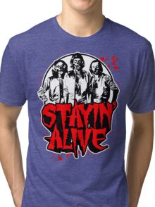 Stayin' Alive 2 (Zom-Bee Gees) Tri-blend T-Shirt