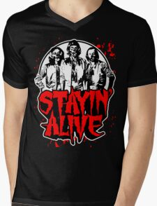 Stayin' Alive 2 (Zom-Bee Gees) Mens V-Neck T-Shirt