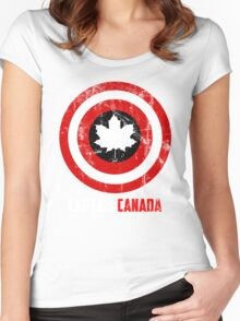 Captain Canada Women's Fitted Scoop T-Shirt