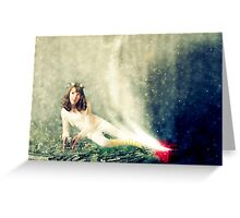 ~ the girl who knew she could fly ~ Greeting Card