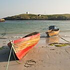 Boats in the harbour, Scarinish - Tiree, Scotland by laurawhitaker